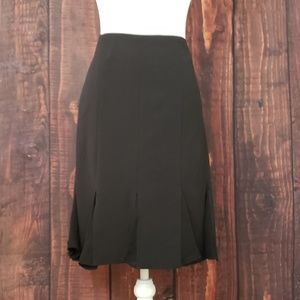 NY&Co Black Pencil Skirt with Flare Detail
